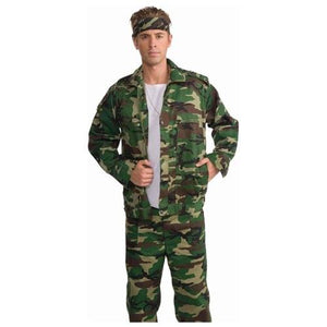Combat Hero Camouflage Costume Jacket Adult