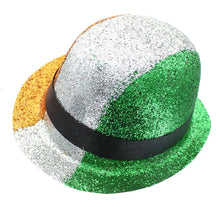 Load image into Gallery viewer, St. Patrick's Irish Flag Glitter Costume Derby Hat One Size