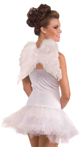 White Costume Feather Angel Wings