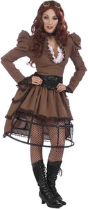 Victorian Steampunk Adult Costume Dress