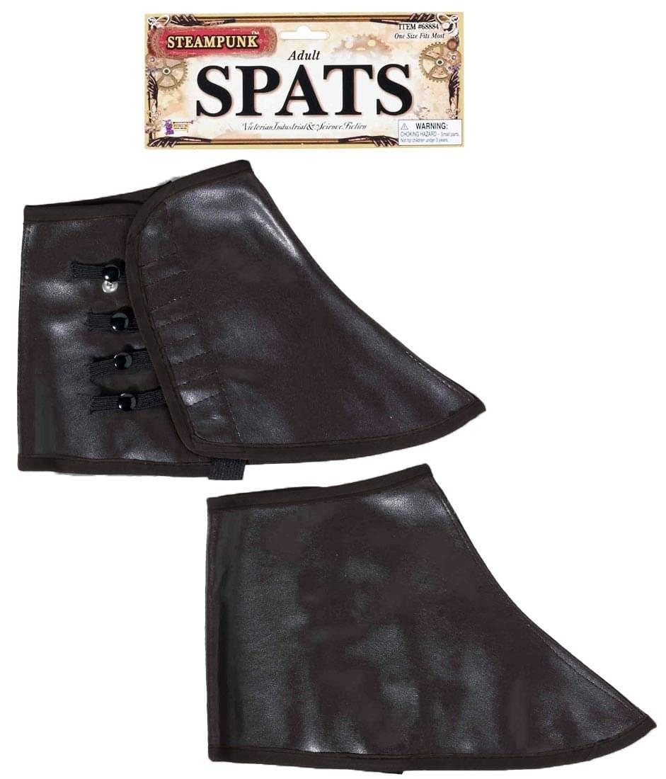 Brown Steampunk Spats Adult Costume Shoe Enhancers One Size