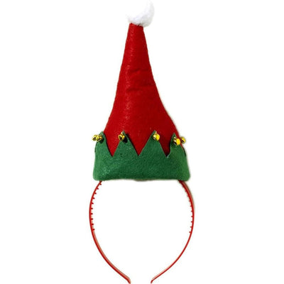 Christmas Elf Hat with Bells Costume Headband