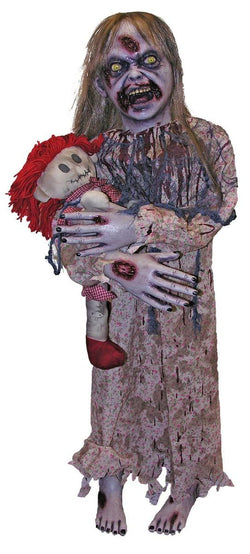 Zombie Girl Prop Halloween Decoration