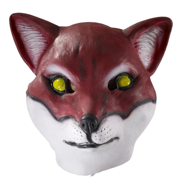 Deluxe Latex Animal Mask Adult: Red Fox
