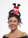 Santa Stuck In Chimney Mini Costume Hat Headband Adult