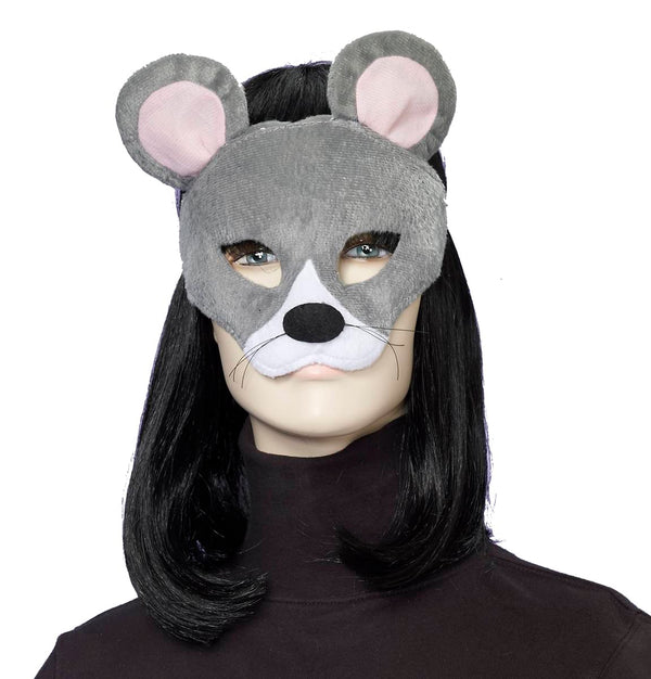 Deluxe Fuzzy Animal Mask Adult: Mouse