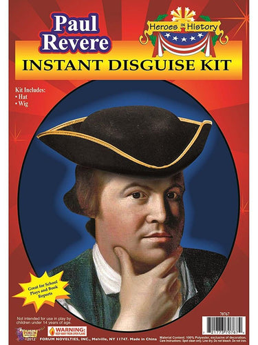 Paul Revere Instant Costume Disguise Kit Adult