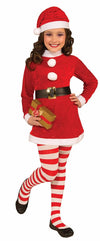 Red And White Striped Tights Christmas Costume Accessory Child