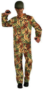 Army Camouflage Jumpsuit Adult One Size Fits Most