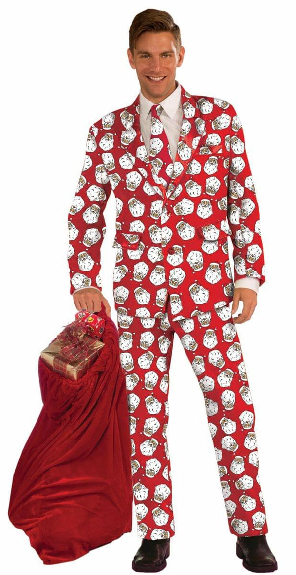 Santa Claus Adult Costume Business Suit