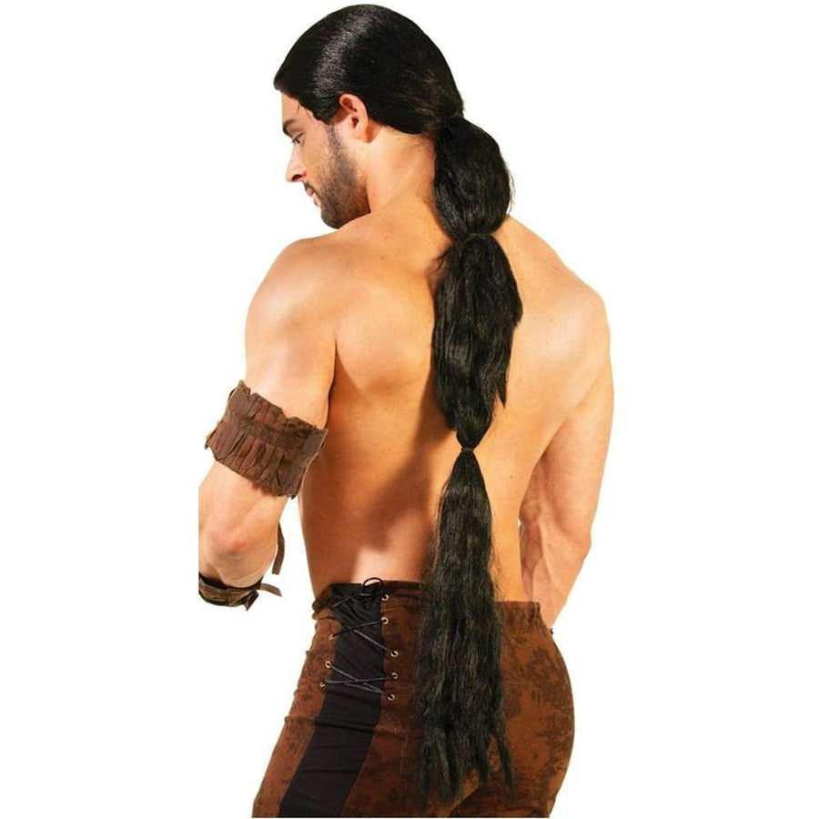 Medieval Fantasy Men's Warrior Black Costume Wig