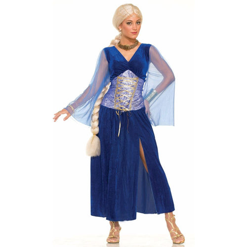 Medieval Fantasy Sapphire Dress Adult Costume