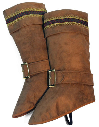 Santa Claus Deluxe Brown Boot Top Covers One Size