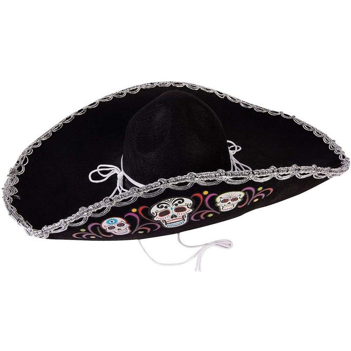 Day of the Dead Deluxe Costume Sombrero