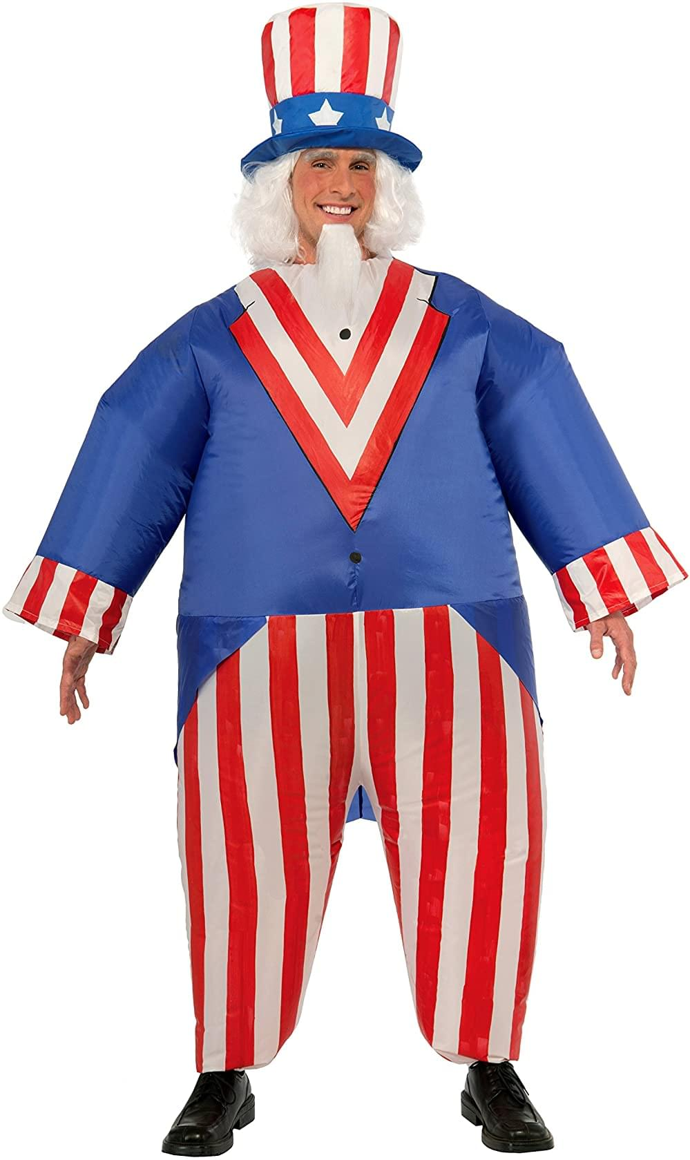 Inflatable Uncle Sam Adult Costume | One Size