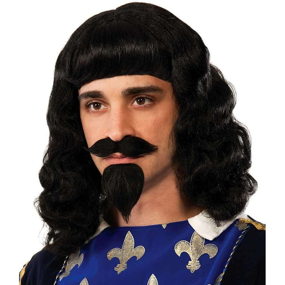 Musketeer Wig, Moustache, Goatee Costume Accessory Adult Men