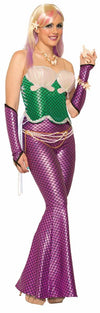 Mermaid Sexy Corset Costume Top Green One Size