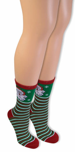 Ugly Christmas Santa Ankle Socks Adult