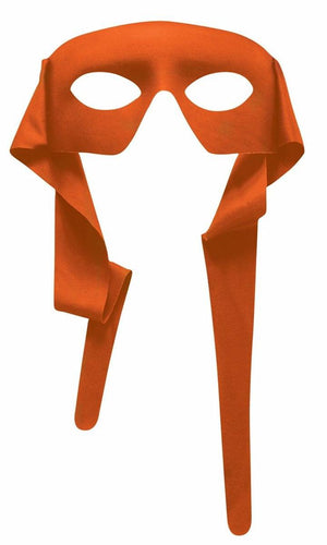 Orange Eye Mask With Ties Costume Accessory Adult