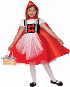 Red Riding Hood Dress With Cape Costume Child