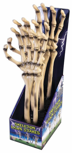 Skeleton Hand Stake With Chain Halloween Prop Décor