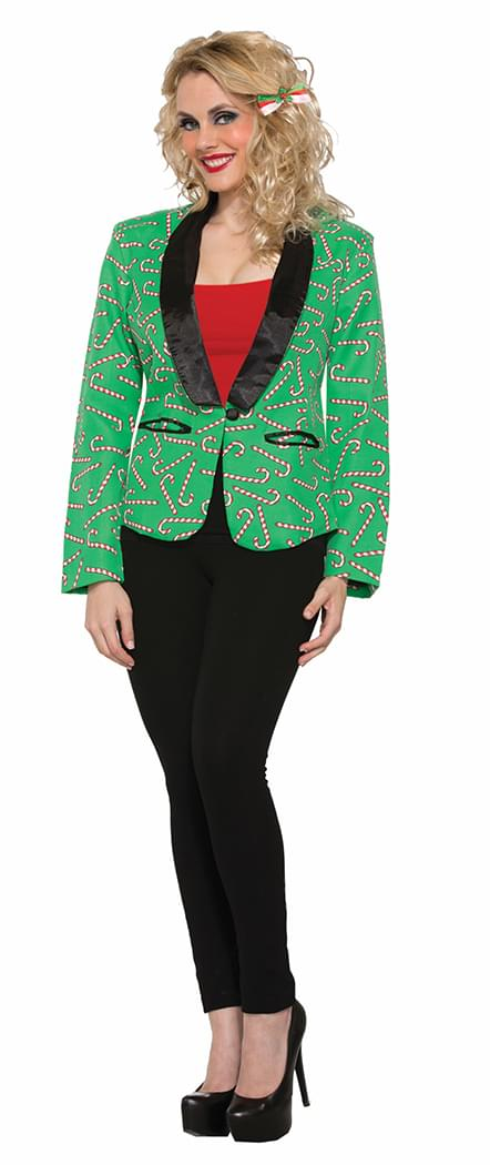 Candy Cane Blazer Adult Women