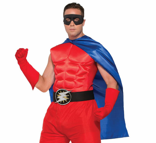 Superhero Red Costume Muscle Chest Adult Men