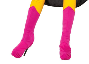 Superhero Pink Costume Boot Tops Adult Medium