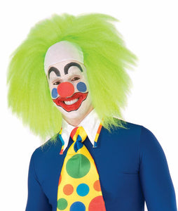 Wild Lime Clown Costume Wig Adult Men