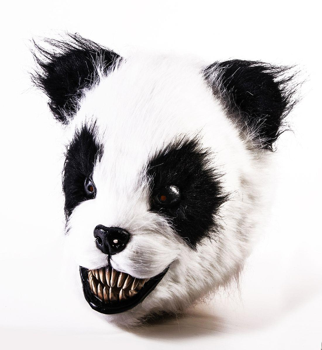 Scary Panda Latex Adult Costume Mask