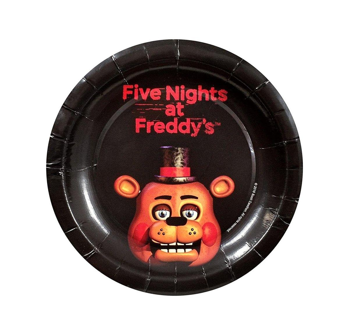 "Five Nights At Freddy's 8ct 7"" Round Paper Plates"