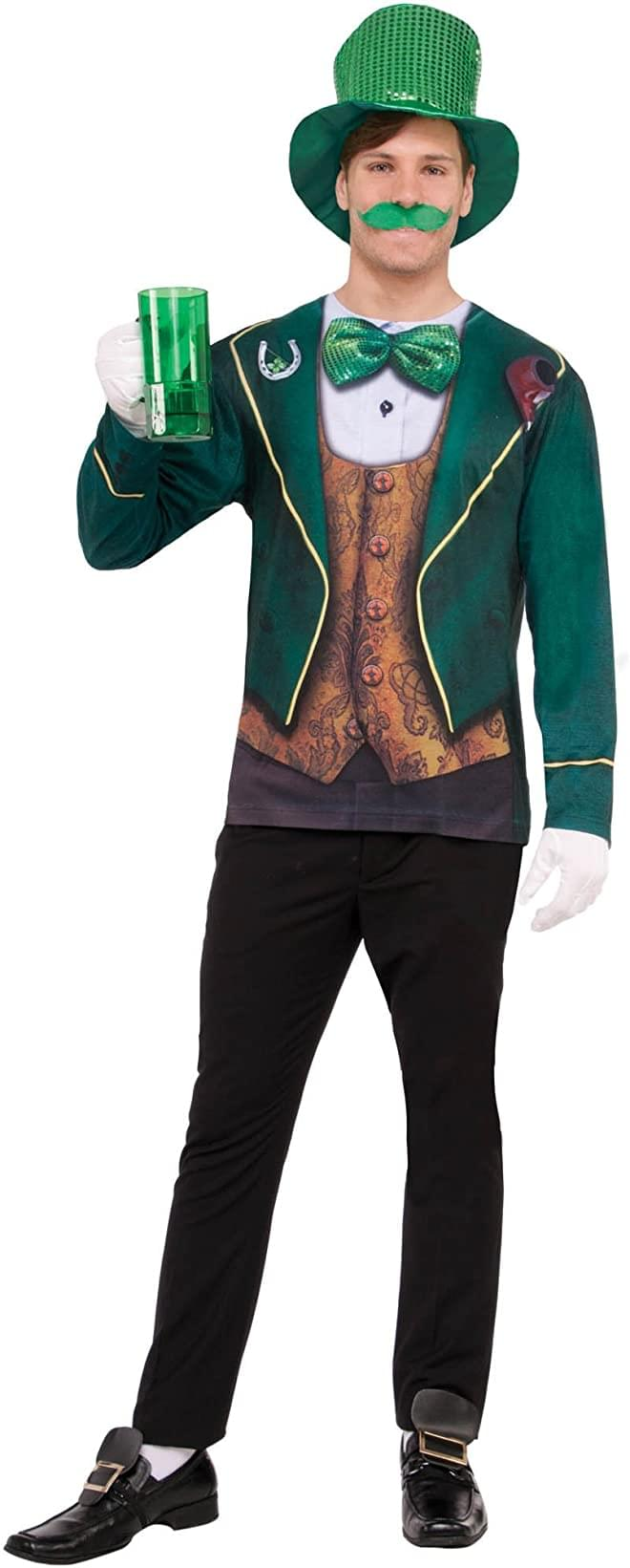 3D Instantly Irish Photo-Real Printed Adult Costume Top | One Size