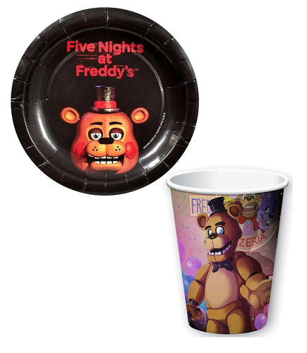 Five Nights At Freddy's Paper Cups and Plates Set