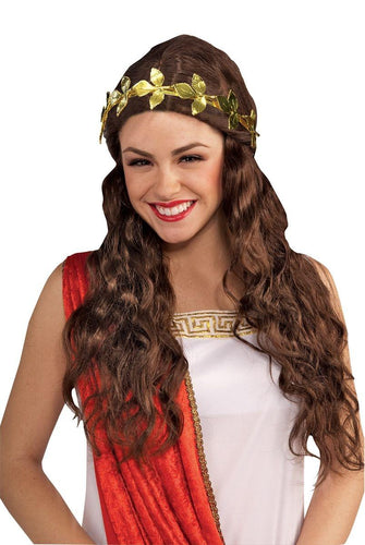 Roman Laurel Wreath Gold Leaf Headband Women's Costume Accessory