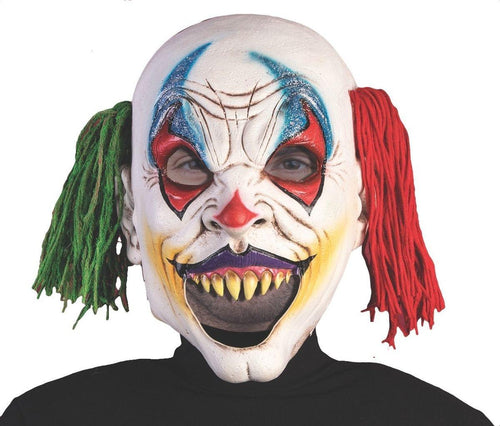 Open Mouth Evil Clown Adult Latex Costume Mask