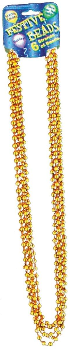 "Beaded 33"" Necklace Adult Costume Jewelry, Gold"