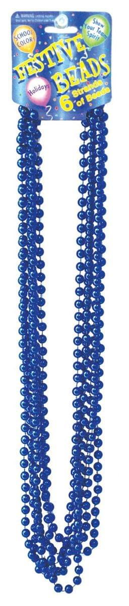 "Beaded 33"" Necklace Adult Costume Jewelry, Royal Blue"