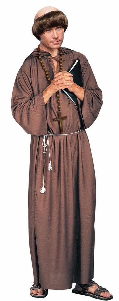 Brown Monk Robe Costume Adult