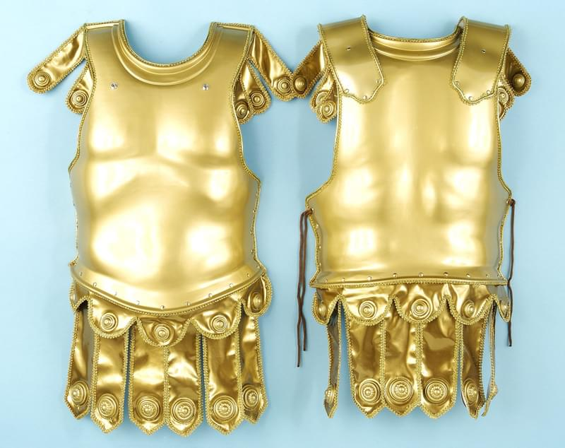 Golden Roman Deluxe Chest & Back Plate Armor Adult Costume Set