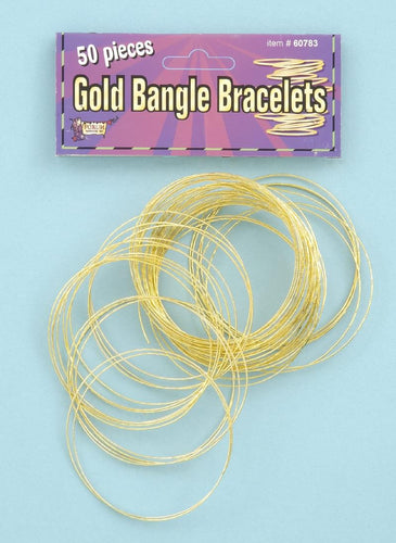 50 Gold Bangle Costume Bracelets