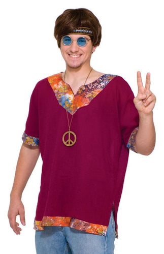 Groovy Hippie Costume Shirt Adult