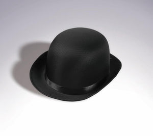 Black Satin Derby Adult Costume Hat