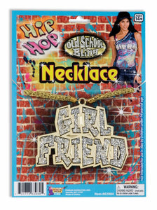 Hip Hop Girl Friend Costume Necklace