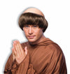 Religious Monk Dark Brown Costume Wig Adult Standard