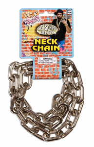 Hip Hop Big Link Silver Neck Costume Chain