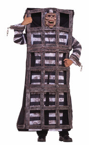 Scary Convict Prisoner In Cage Jail Costume Adult