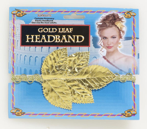 Gold Roman Leaf Costume Headband Adult