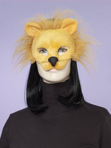 Deluxe Fuzzy Animal Mask Adult: Lion