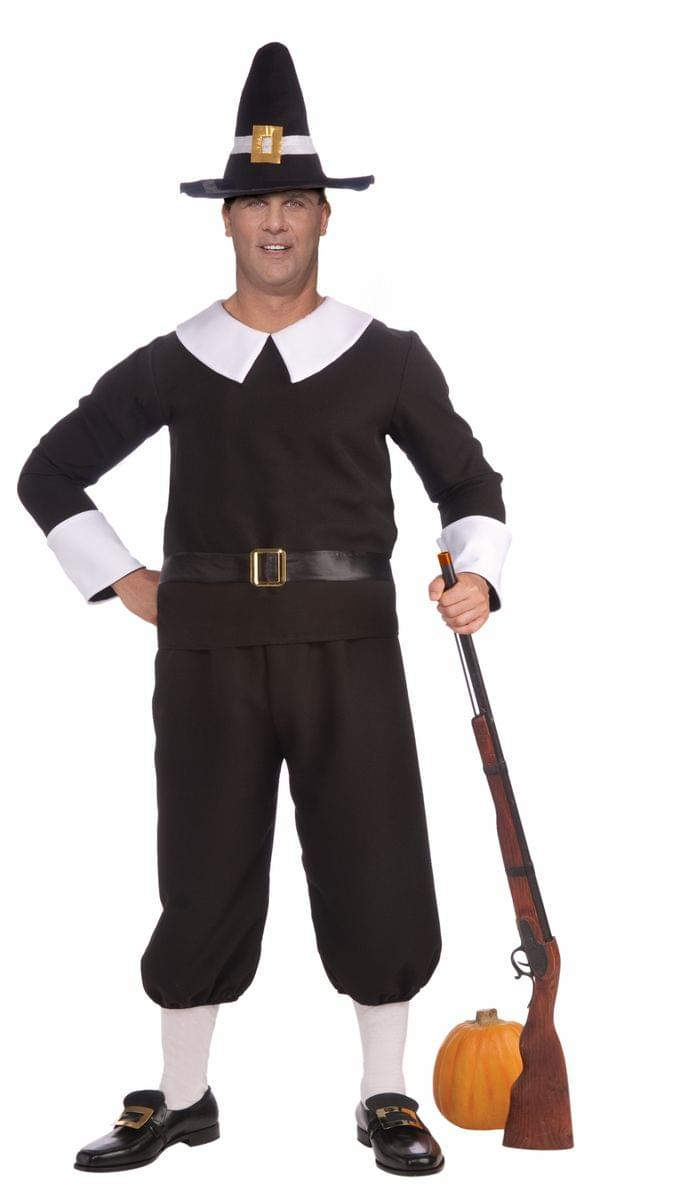 Thanksgiving Colonial Male Pilgrim Costume Adult Plus