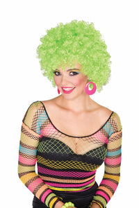 Club Candy Costume Afro Wig Adult - Neon Green
